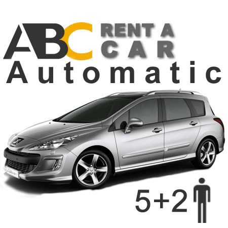 Car rental Thessaloniki Halkidiki Peugeot 308 Automatic Station Wagon 5 + 2