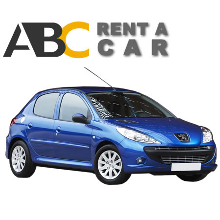 Car rental Thessaloniki Halkidiki Peugeot 206 Plus